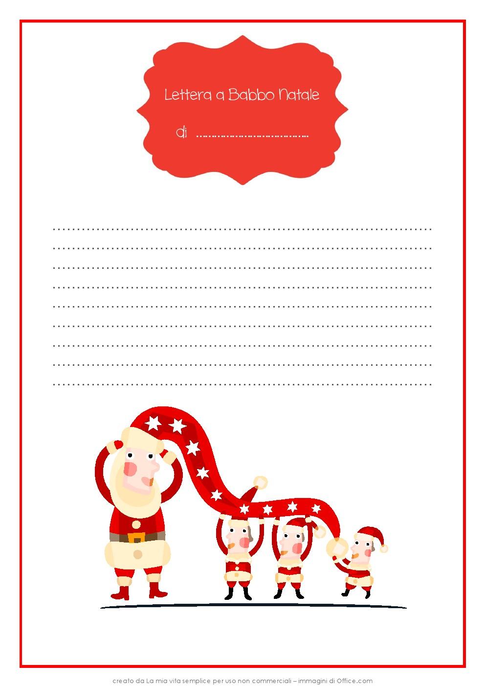 Immagini Di Lettere Per Babbo Natale.Lettera A Babbo Natale Scinardo It